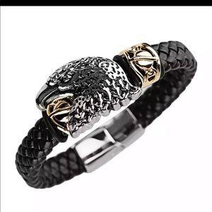 Eagles Leather Bracelet